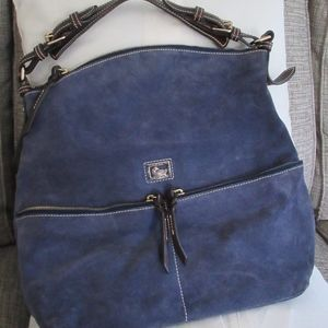 Dooney & Bourke Navy Suede Hobo